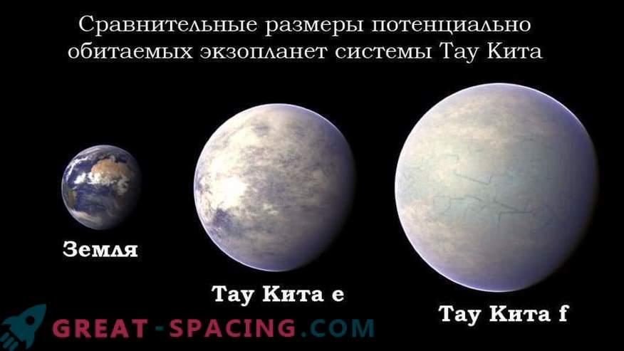 L'esopianeta Tau Kitae è considerata abitabile con un alto grado di probabilità