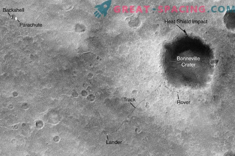 Volte in cui un satellite della NASA ha spiato i robot marziani