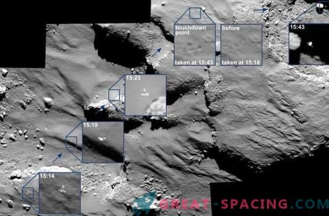 Rosetta cattura il viaggio di Phil su una cometa
