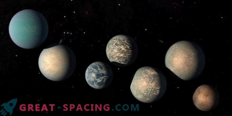 Potrebbe esserci troppa acqua negli esopianeti TRAPPIST-1
