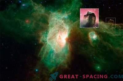 Nuova immagine della Nebulosa Flame, realizzata dal telescopio Spitzer