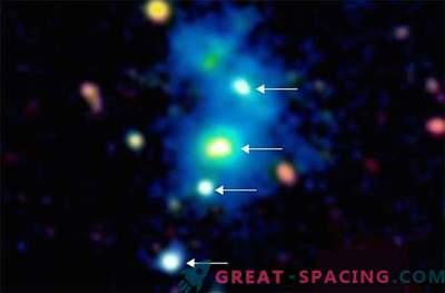 L'aspetto sorprendente di un quartetto di quasar può essere spiegato