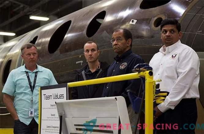La buona fortuna ha salvato la vita del secondo pilota SpaceShipTwo