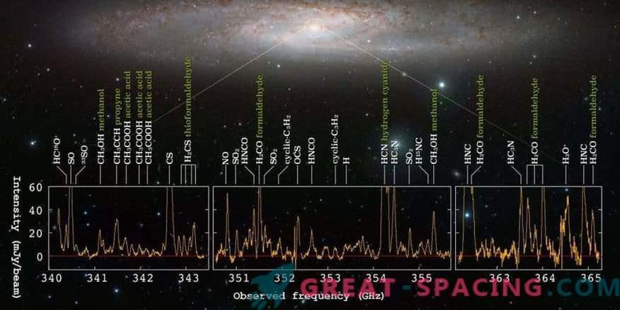 Una galassia di nascita stellare mostra un mare di segnali molecolari