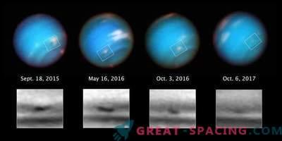 Hubble osserva la strana tempesta di Nettuno