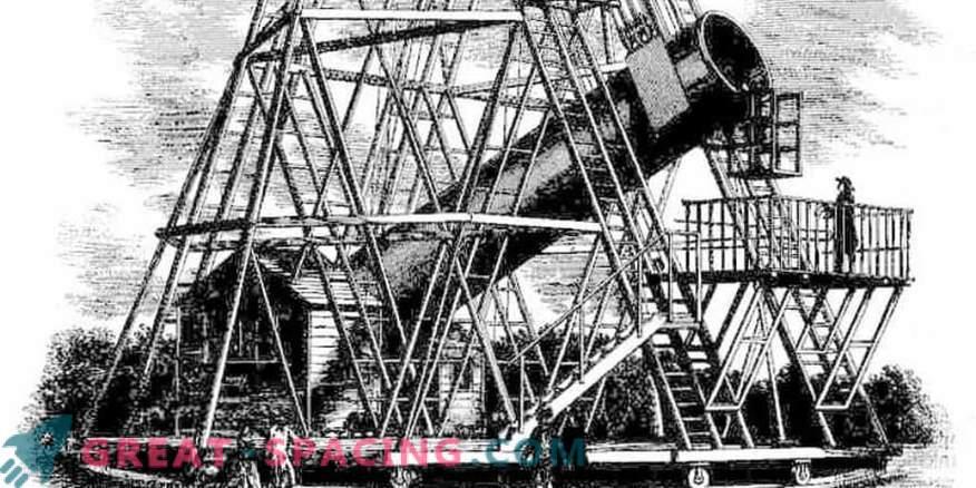 Quale gigantesco telescopio di William Herschel sembrava