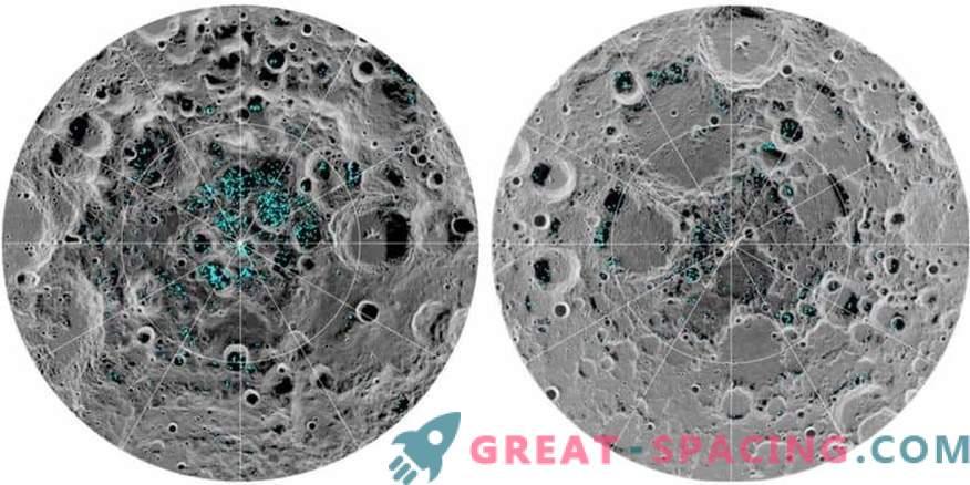 Ice confermato ai poli lunari