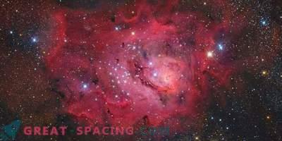 Nebulosa Laguna su uno sfondo stellato