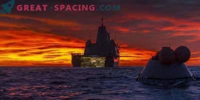 Orion Test Capsule nel Pacifico
