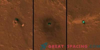 InSight landing field on photos from space