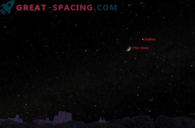 Domenica, la Luna incontra Giove nel cielo notturno: dove cercare