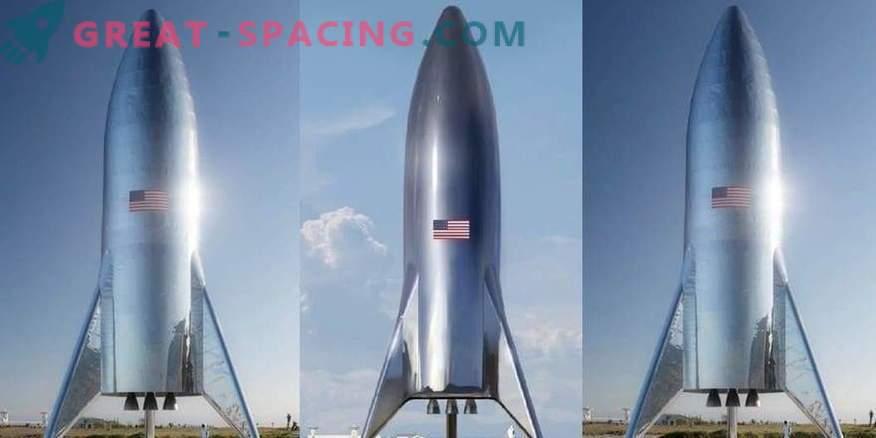Ilon Musk dimostra un prototipo di un razzo marziano