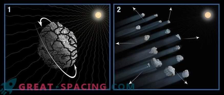 Hubble ha assistito al misterioso collasso di un asteroide