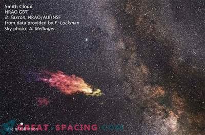 Una gigantesca nube di gas sul percorso di collisione con la nostra galassia