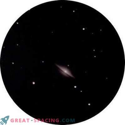 Pogled na galaksijo Sombrero iz mest