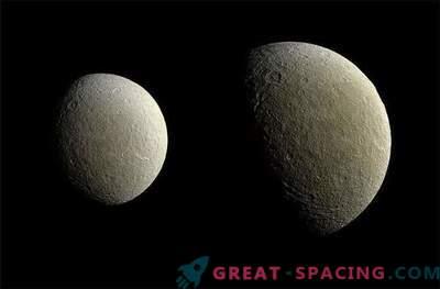 Sonda lui Cassini a realizat imagini de înaltă calitate ale lui Rei