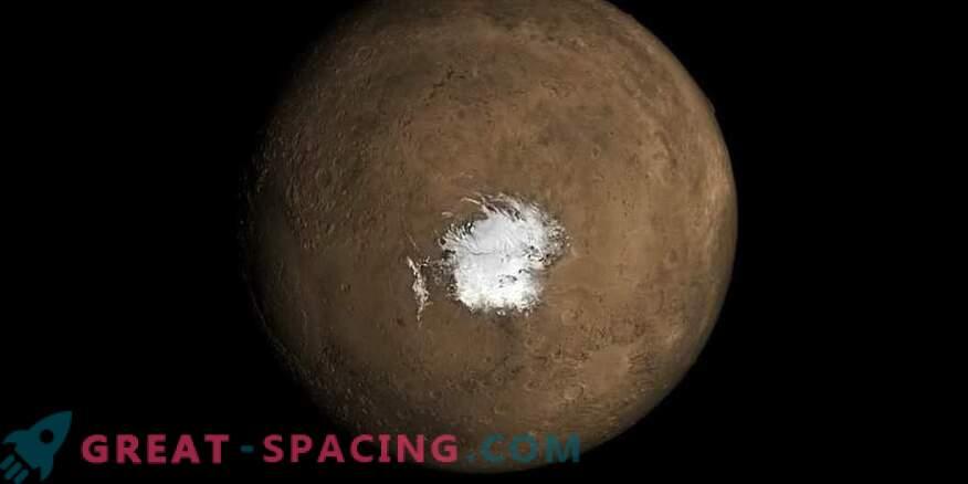 Марсианското езеро може да се появи поради скорошната вулканична активност