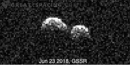 Gli osservatori si uniscono per studiare un raro doppio asteroide.