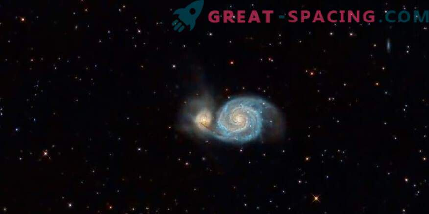 A giant ionized cloud of hydrogen was found in the Whirlpool galaxy