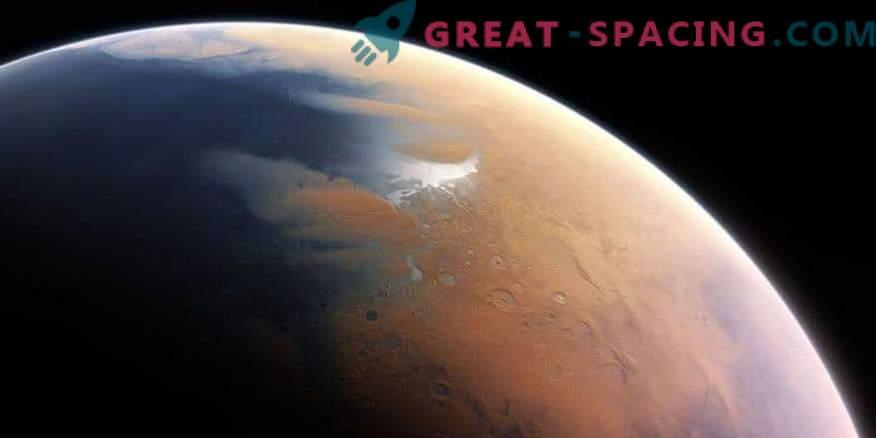 Il primo Marte mostra un caldo deserto con piogge occasionali